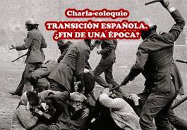 Cartel charla-coloquio IU Hortaleza sobre Transición 17-11-13